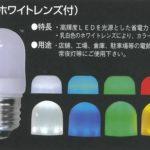 ネオブライトLEDサイン球(ホワイトレンズ付) E17